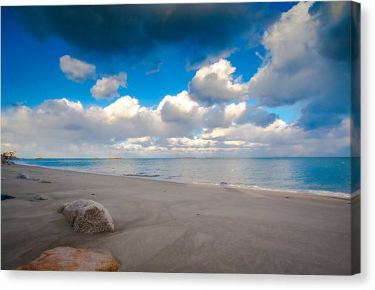 Minot Beach In Scituate Massachusetts  Canvas Print