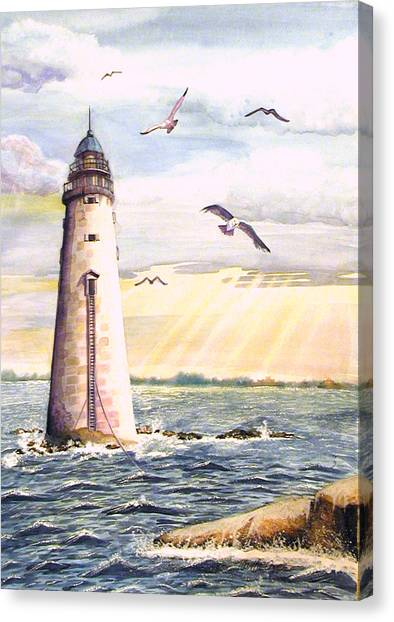 Minot Lighthouse Or The I Love You Lighthouse Canvas Print