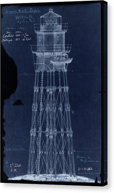 Lighthouse drawings canvas prints page 2 of 23 fine art america lighthouse drawings canvas print minots ledge lighthouse rustic blueprint 1850 by daniel hagerman malvernweather Images