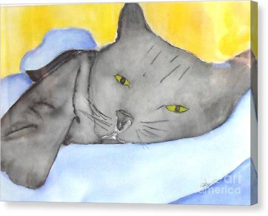 Minou Canvas Print by Djl Leclerc