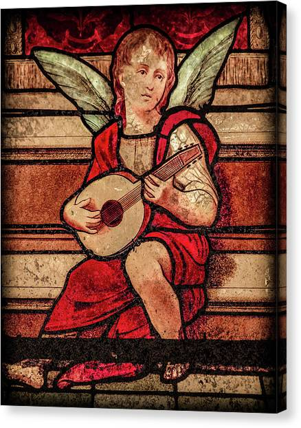 Canvas Print featuring the photograph Paris, France - Minstrel Angel by Mark Forte