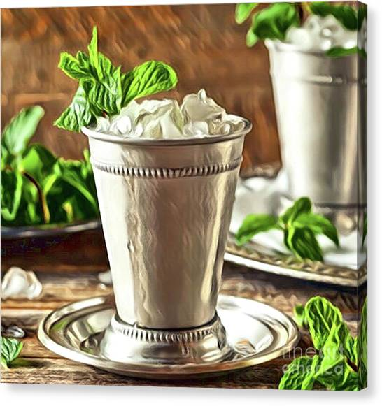 Mint Julep Double Canvas Print