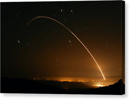 Minuteman IIi Launch April 2 2008 Canvas Print