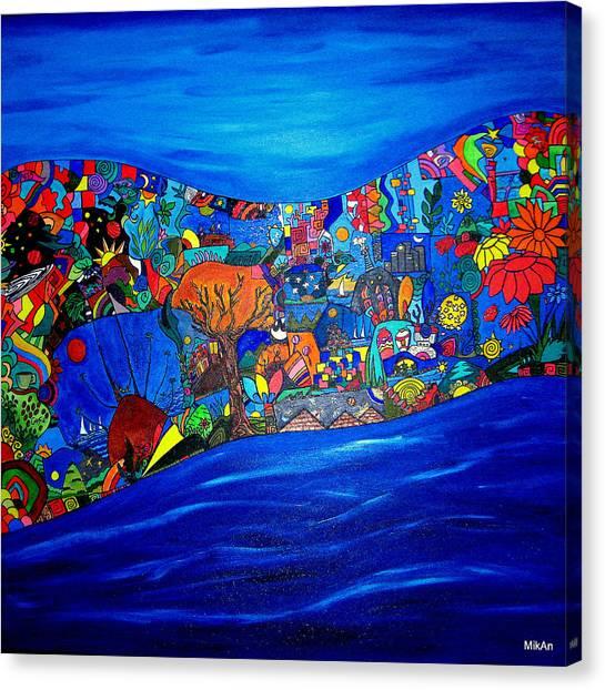 Mira Como Nadan Canvas Print by MikAn 'sArt