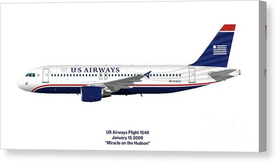 Airplane blueprint canvas prints page 18 of 19 fine art america airplane blueprint canvas print miracle on the hudson us airways a320 by steve h malvernweather Images
