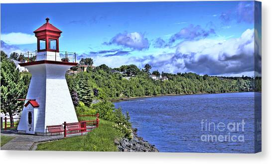 Miramichi Lighthouse Canvas Print by Levin Rodriguez