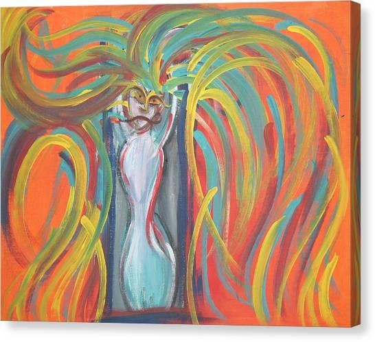 Mirror Demon Canvas Print by Jessica Kauffman