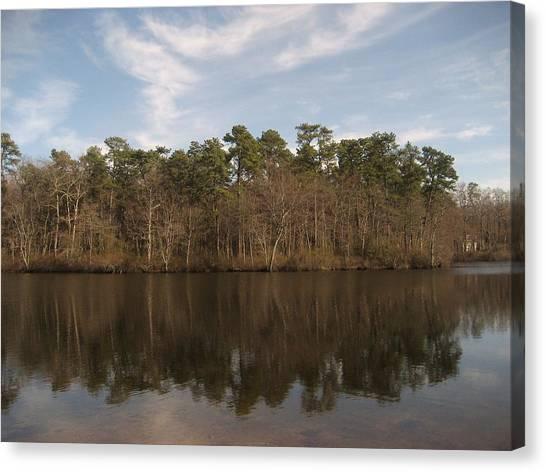 Mirror Lake Canvas Print by Jennifer  Sweet