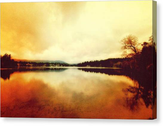 Mirror Lake At Sunset Canvas Print