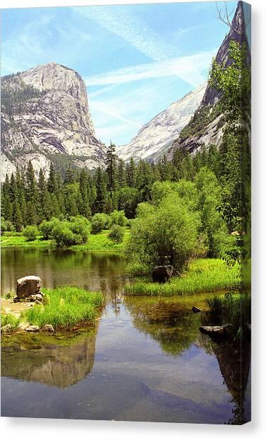 Mirror Lake Yosemite Canvas Print by Alan Lenk