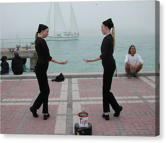 Canvas Print - Mirror Mimes In Key West by Carl Purcell