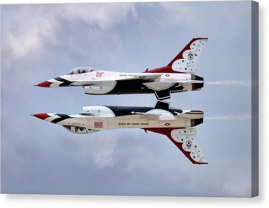 F16 Canvas Print - Mirror Mirror by Peter Chilelli