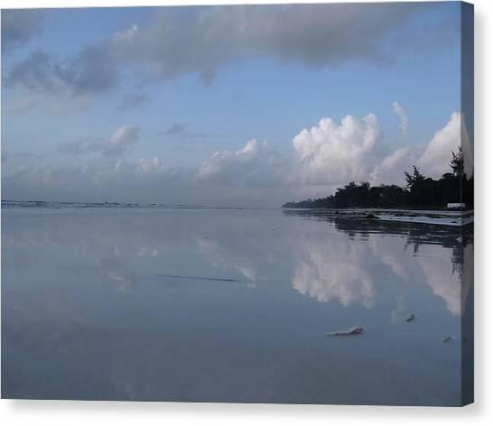 Education By Traveling Canvas Print - Mirror Ocean Water by Exploramum Exploramum