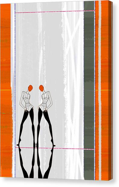 Vogue Canvas Print - Mirror Reflections by Naxart Studio