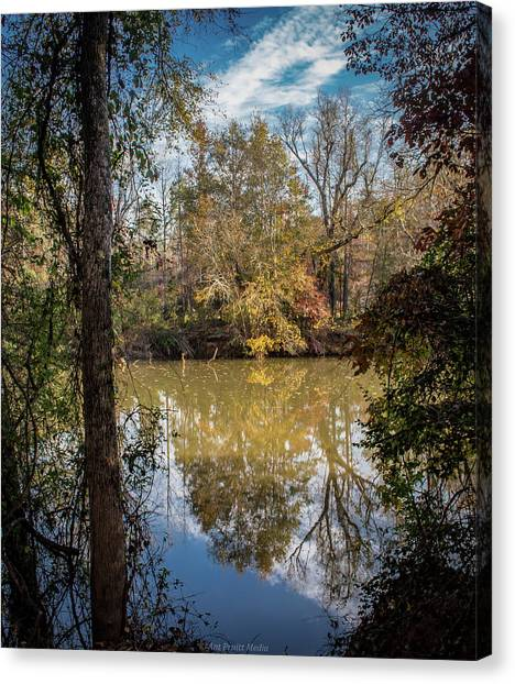 Mirror River Canvas Print