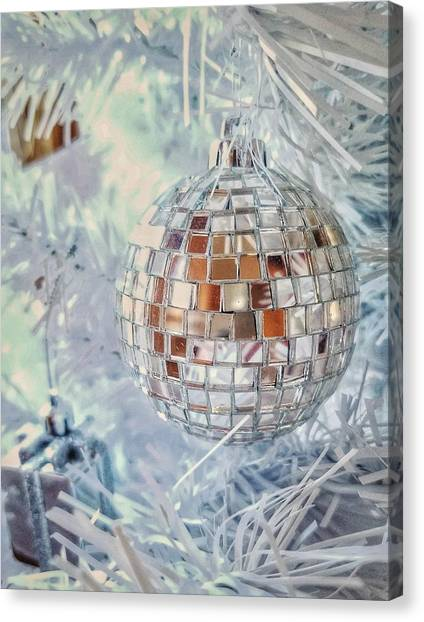 Fire Ball Canvas Print - Mirror Tree Ornament by Mary Capriole