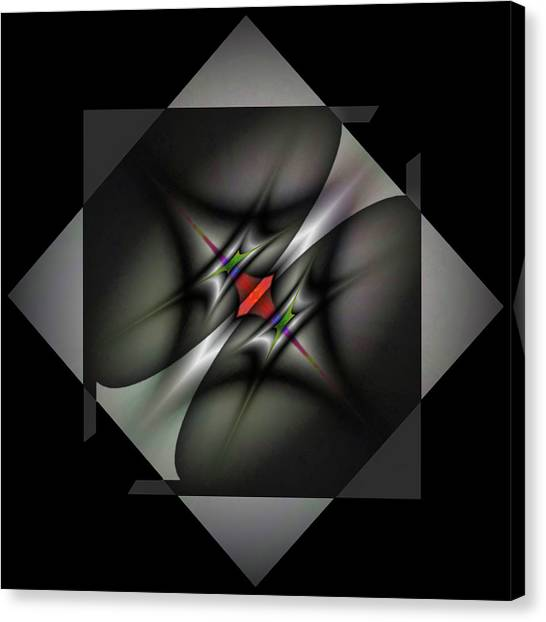 Colorplay Canvas Print - Misaligned Energy Matrix-left by Mike Breau