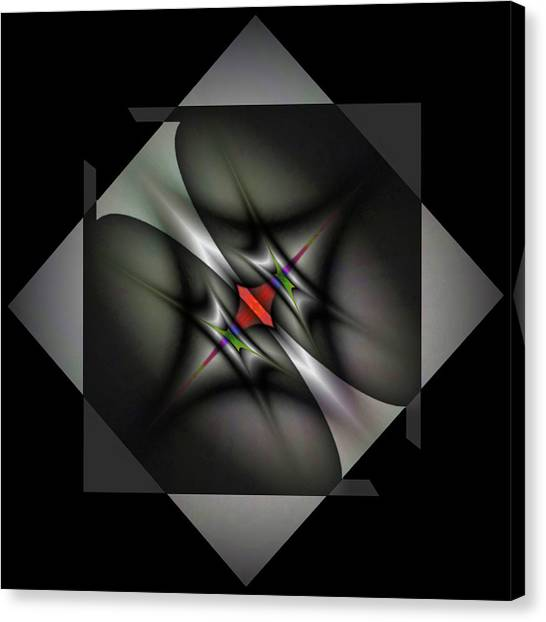 Colorplay Canvas Print - Misaligned Energy Matrix-right by Mike Breau