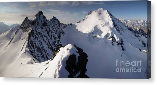Ice Climbing Canvas Print - Mischabel by DiFigiano Photography