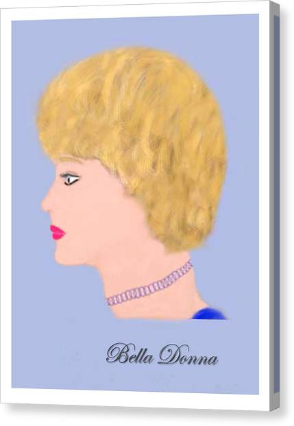 Miss Bella Donna Canvas Print by Jerry White