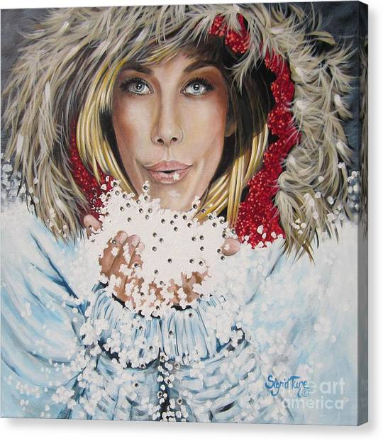 Remarkable Russian Girl.            From The Attitude Girls  Canvas Print