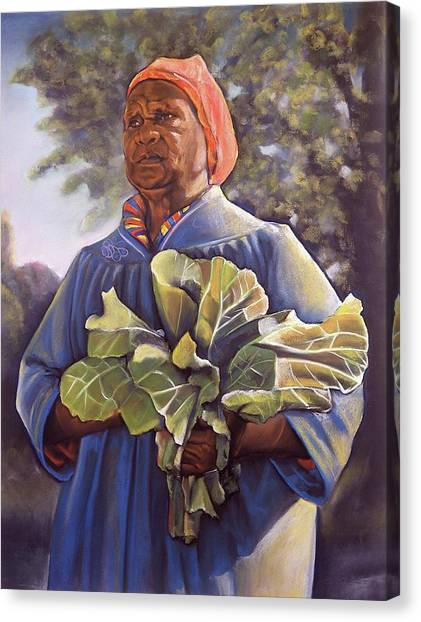 Slavery Canvas Print - Miss Emma's Collard Greens by Curtis James