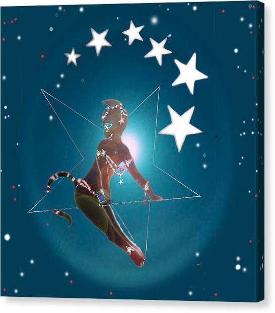 Miss Fifiswinging On A Star Canvas Print by Silvia  Duran