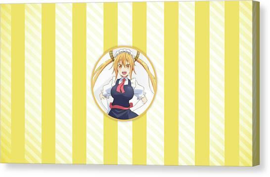 Design Canvas Print - Miss Kobayashi's Dragon Maid by Maye Loeser