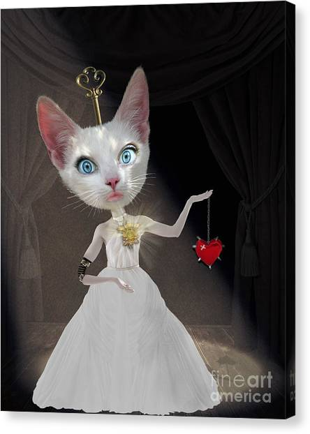 Cuckoos Canvas Print - Miss Kitty by Juli Scalzi