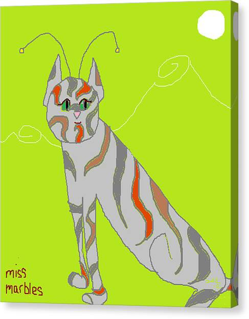 Miss Marbles My Favorite Martian Canvas Print