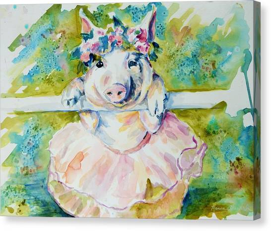Miss Piggy At The Bar Canvas Print