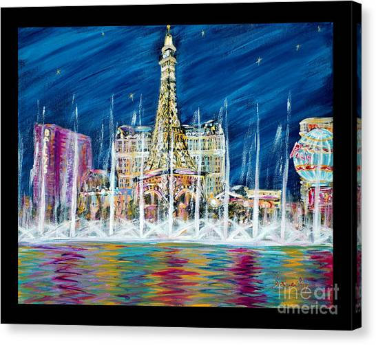 Miss You Las Vegas. Beautiful City View Canvas Print