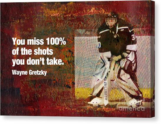 Wayne Gretzky Canvas Print - Missed Shots by John Turek