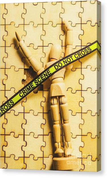 Police Canvas Print - Missing Piece Of The Puzzle by Jorgo Photography - Wall Art Gallery