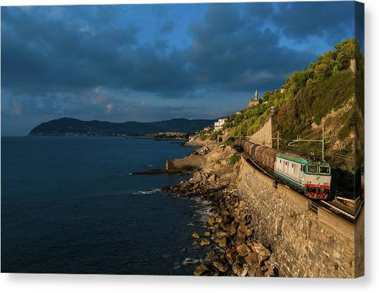 Freight Trains Canvas Print - Missing Railway by Andrea Sosio