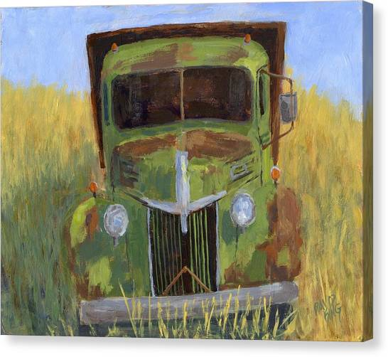 Truck Driver Canvas Print - Missing Teeth by David King