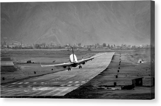 Himalayas Canvas Print - Missing The Runway by Krishnaraj Palaniswamy