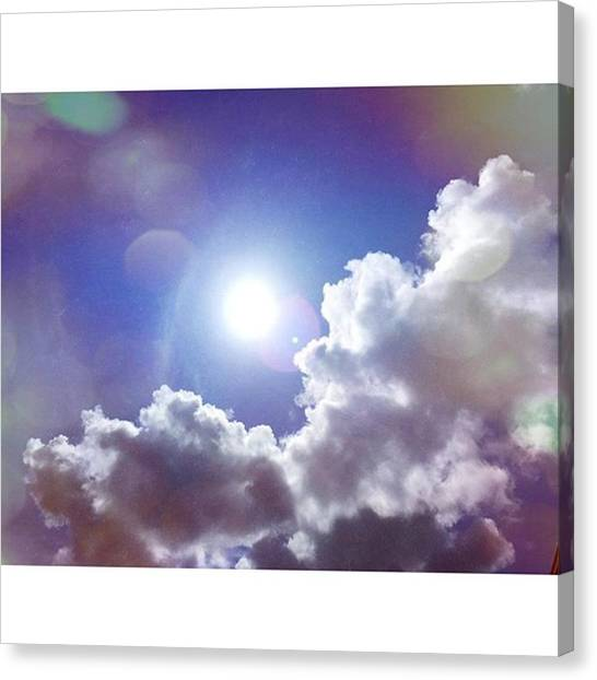 Weather Canvas Print - Missing The Sunshine Today #mobilepics by Joan McCool