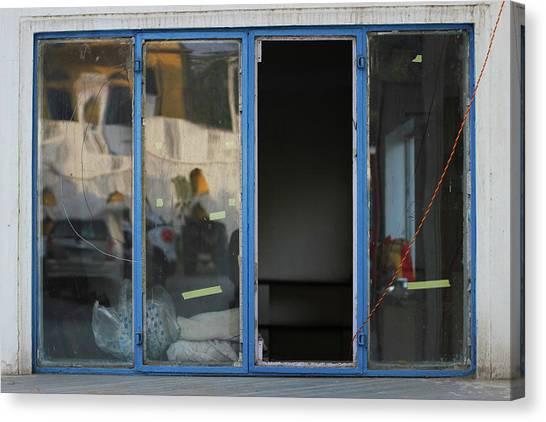 Missing Window Pane Canvas Print by Prakash Ghai