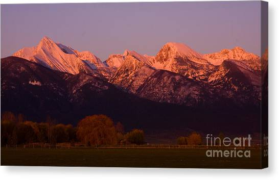 Mission Alpenglow Canvas Print