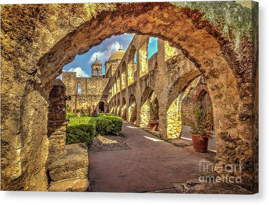 Mission Arches Canvas Print
