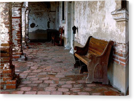 Mission Bench Canvas Print
