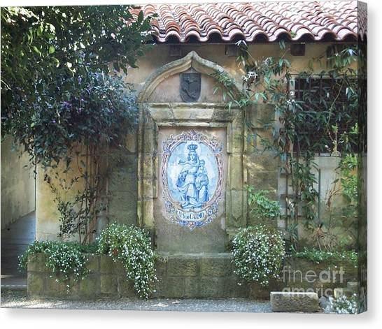 Mission Carmel Court Yard Canvas Print