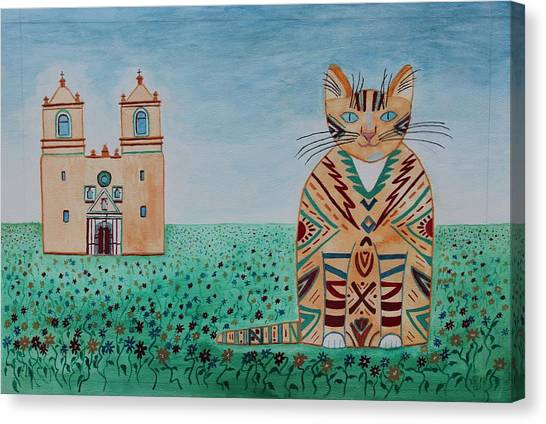 Mission Conception Cat Canvas Print