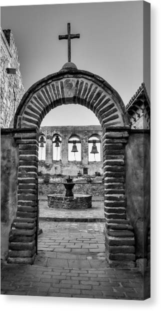 Mission California Canvas Print - Mission Gate And Bells #3 by Stephen Stookey