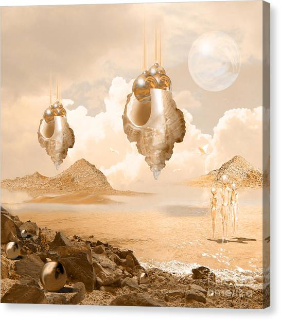 Mission In A Far Planet Canvas Print