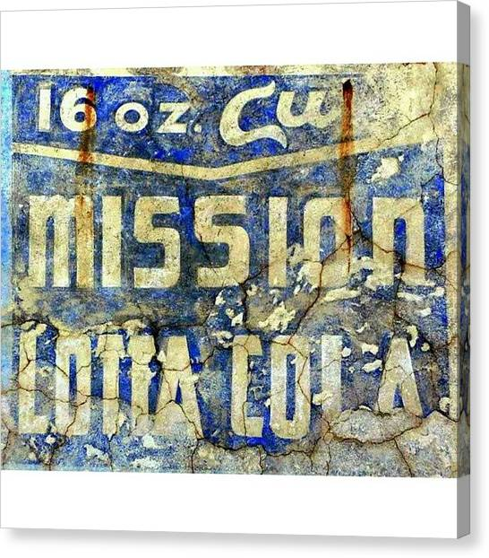 University Canvas Print - Mission Lotta Cola by Karyn Robinson