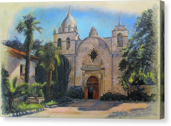 Mission San Carlos In Carmel By The Sea Canvas Print