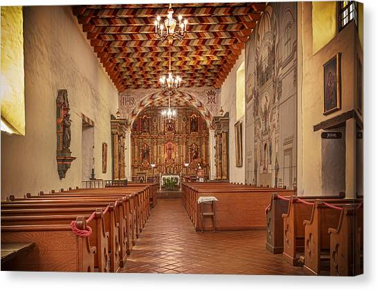Mission San Francisco De Asis Interior Canvas Print