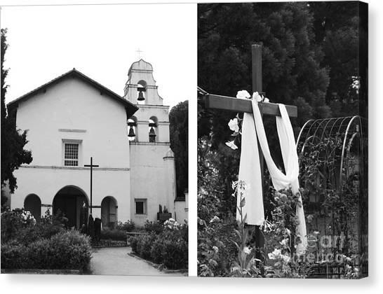Mission San Juan Bautista No1 Canvas Print by Mic DBernardo